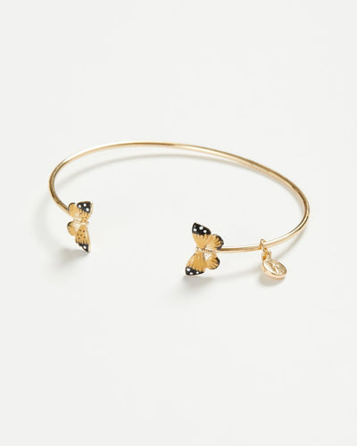 ENAMEL GOLD PLATED BUTTERFLY BANGLE