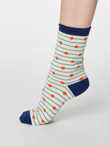 WOMENS BAMBOO SOCKS - SPOTS AND STRIPES
