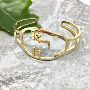 GOLD FACE BANGLE