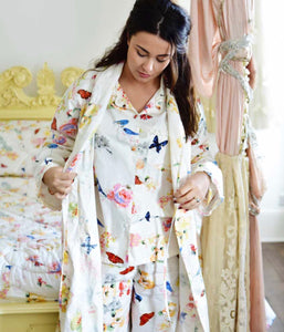WILD GARDEN PRINT COTTON PYJAMAS