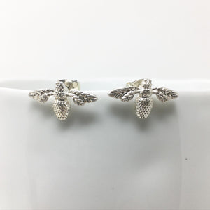 BEE STUD EARRINGS - SILVER