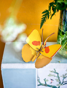 YELLOW BUTTERFLY 3D WALL HANGING