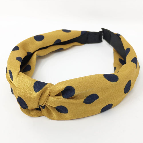 ALICE BAND - YELLOW AND NAVY