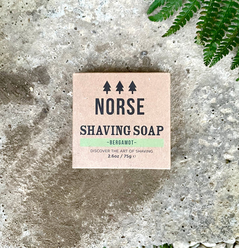 NORSE LUXURY SHAVING SOAP - BERGAMOT