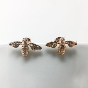 BEE STUD EARRINGS - ROSE GOLD