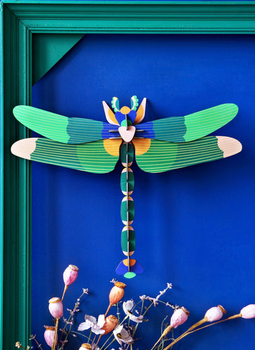 GREEN DRAGONFLY LARGE 3D WALL HANGING