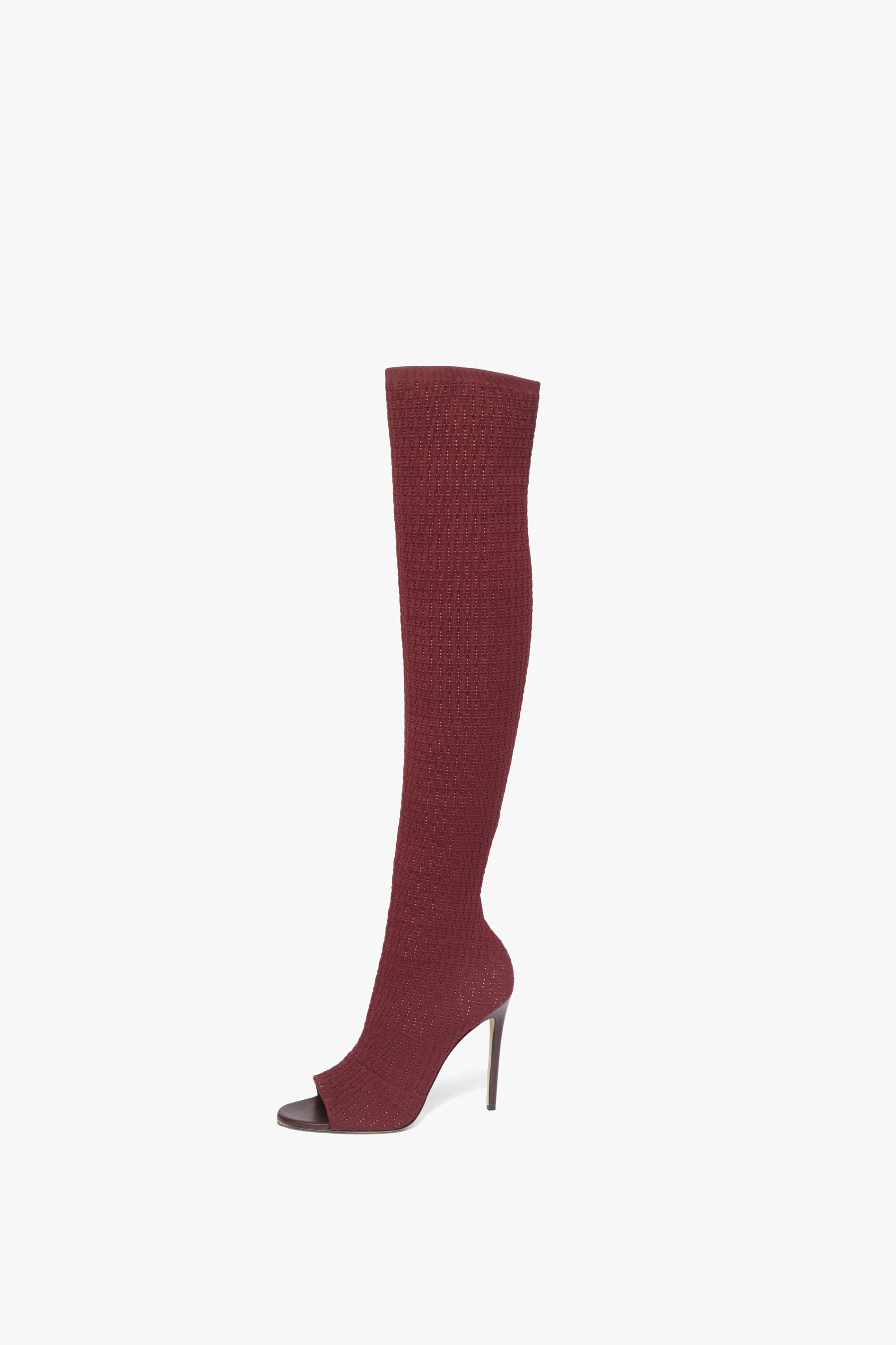 Jasmin 115MM Knit Boots In Bordeaux