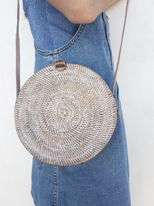 Rattan Bag Nusa White Wash