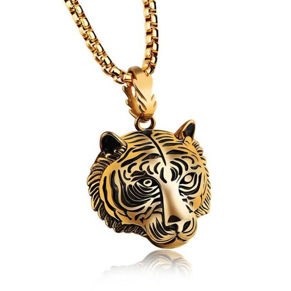 Tiger pendant necklace - Men (60cm chain)