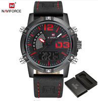 Leather Military Waterproof Sports Watch