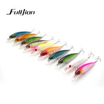 Saltwater floating crankbait fishing lure with 3D eyes - Free shipping