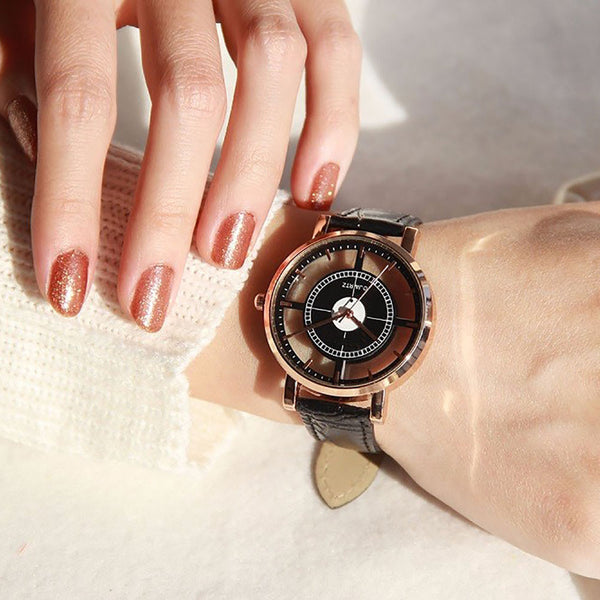 Delicate Unique Hollow Analog Wrist Watch - FREE plus shipping