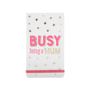 "Notizblock ""Busy being a mum"""