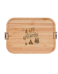 "Edelstahl Brotbox - ""A life full of adventure"""