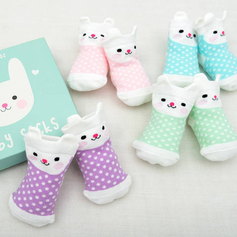 Babysocken Hase (4er-Set)