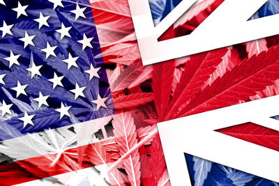 British Flag cannabis leaves