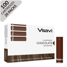 vsavi classic cartridges 100 pack chocolate