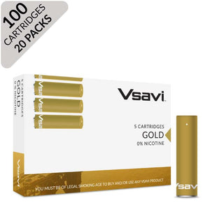 vsavi classic cartridges 100 pack gold