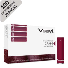 vsavi classic cartridges 100 pack grape