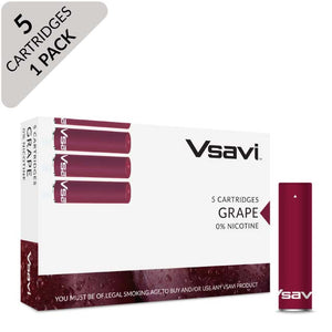 Vsavi Classic Catridges 5-pack grape