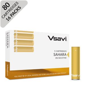 vsavi classic cartridges 80 pack sahara tobacco