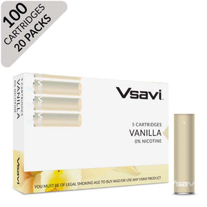 vsavi classic cartridges 100 pack vanilla
