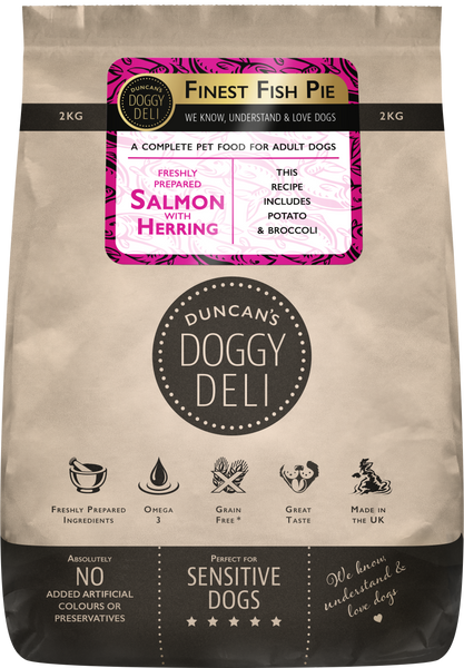 Salmon, Herring and Vegetables | Adult Dry Dog Food | 2kg - 10kg