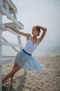 """Tiny Dancer"" baby blue sheer chiffon skirt"