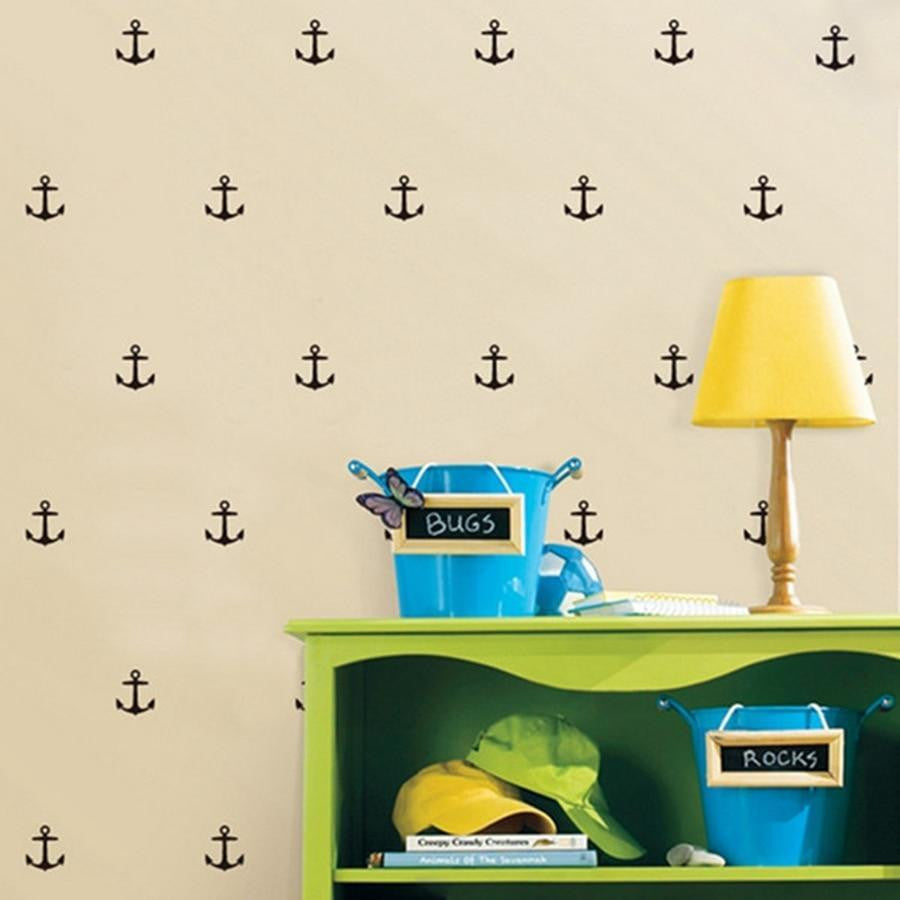 Anchor Wall Sticker 28pcs Wall sticker Black / 8x7cm