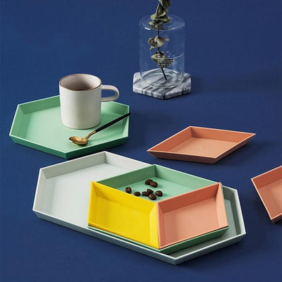 Kaleidoskop Hexagonal Trays 4pcs unique and elegant Tray