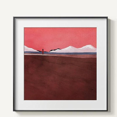 Abstract Mountains Canvas print - Wall Art C / 60x60cm