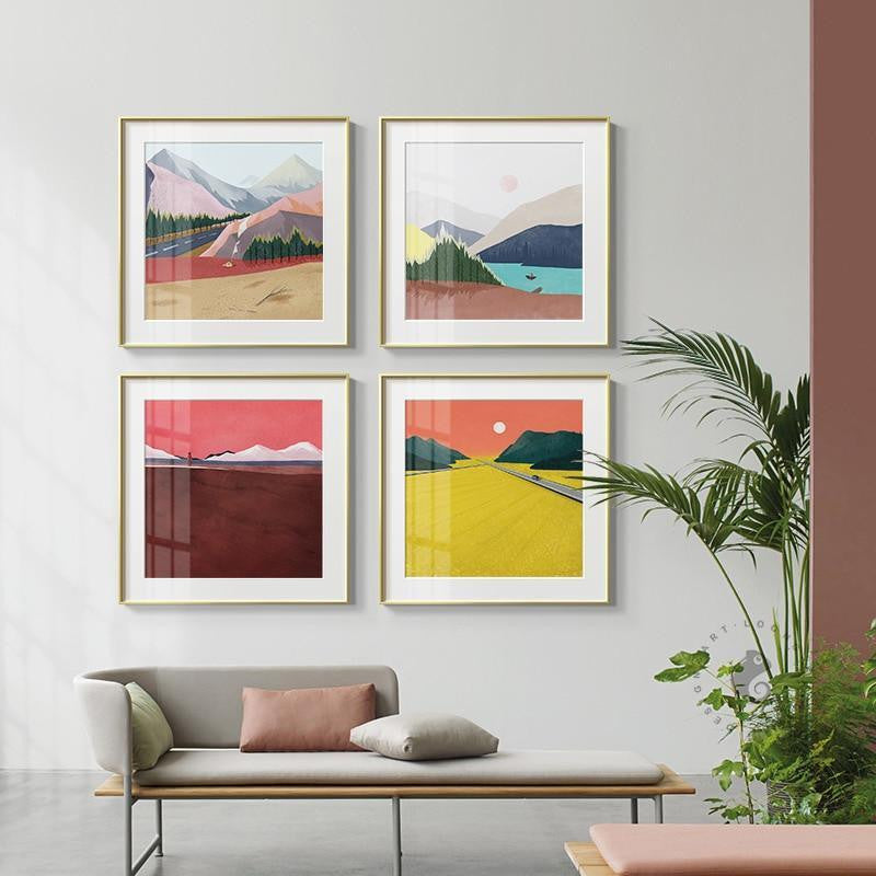 Abstract Mountains unique and elegant Canvas print - Wall Art