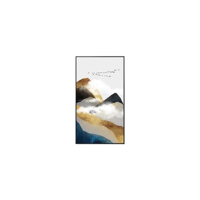 Golden Mountain & Cloud Canvas print - Wall Art
