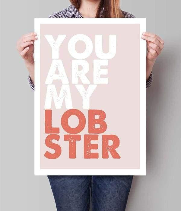 You Are My Lobster Canvas print - Wall Art