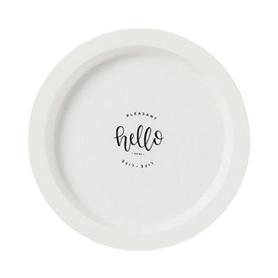 Tropical Block by Guardian Plates Hello white