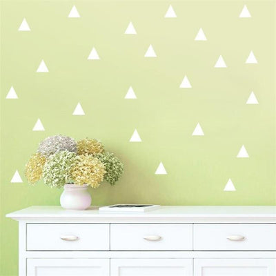 Triangles by Henry Jacobsson Wall Sticker White