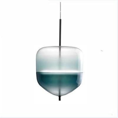 Chromatography by Ingrid Light unique and elegant Pendant lighting S4  blue 10W