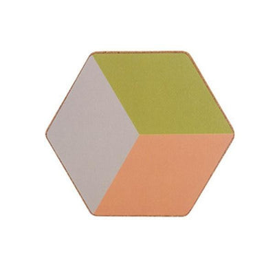 Geometric Placemat by Ingrid / 2pcs Coaster Peach (2pcs)