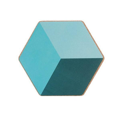 Geometric Placemat by Ingrid / 2pcs Coaster Minty (2pcs)