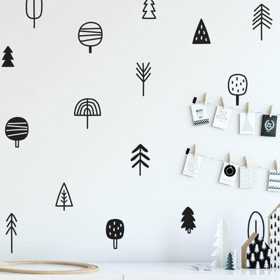 Forest and Tree Kids Wall Decals Wall decals Gold / 57 Trees