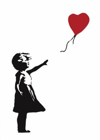 Girl With Balloon by Banksy Canvas print - Wall Art