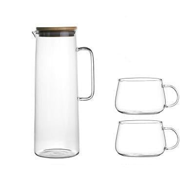 Majestic® Glass Carafe Bottle/Kettle Carafe Water Bottle + Cups