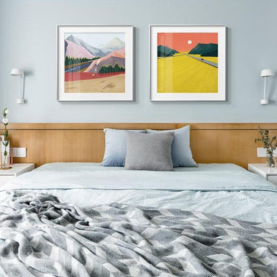 Abstract Mountains | Unframed Canvas Art unique and elegant Canvas print - Wall Art