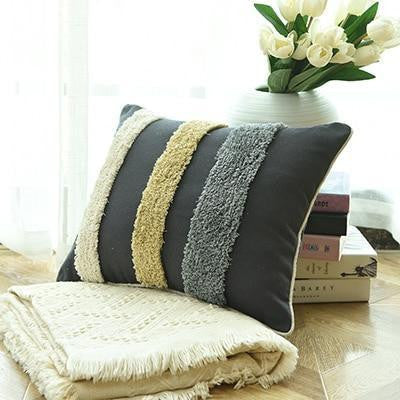 Floraisons Dots Embroidery Cushion Pillow Lines