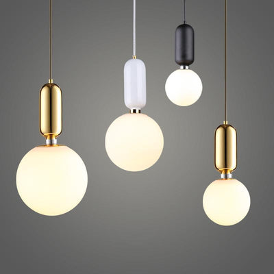 Milk Glass Globe | Mars Naked | Pendant Lighting unique and elegant Pendant lighting