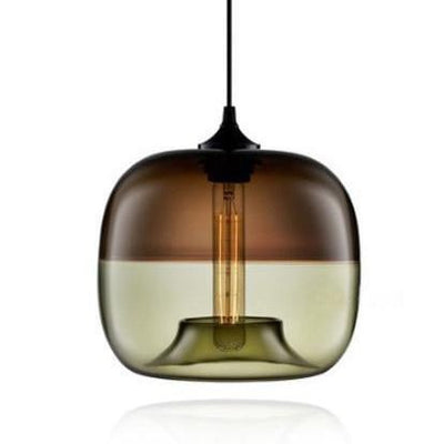 Appiation Duo Glass Ball Pendant Pendant lighting coffee and green