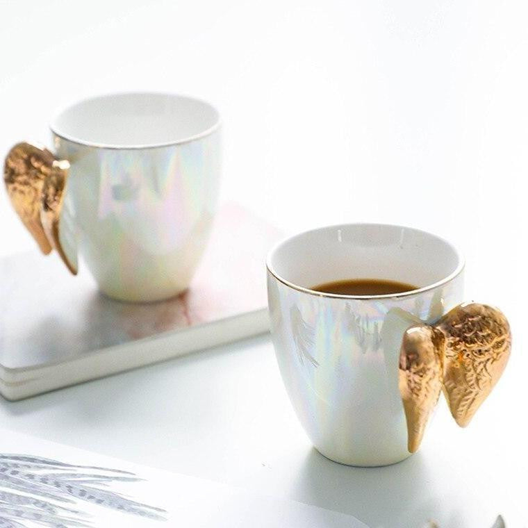 Angels by Ingrid / 2pcs unique and elegant Drinkware Morning Angel