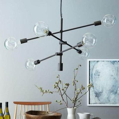 Bliss Celebration by Frederick Vaux Pendant Light Rich black / 6 Heads