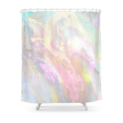 Slick Pastel Shower Curtain Shower curtain
