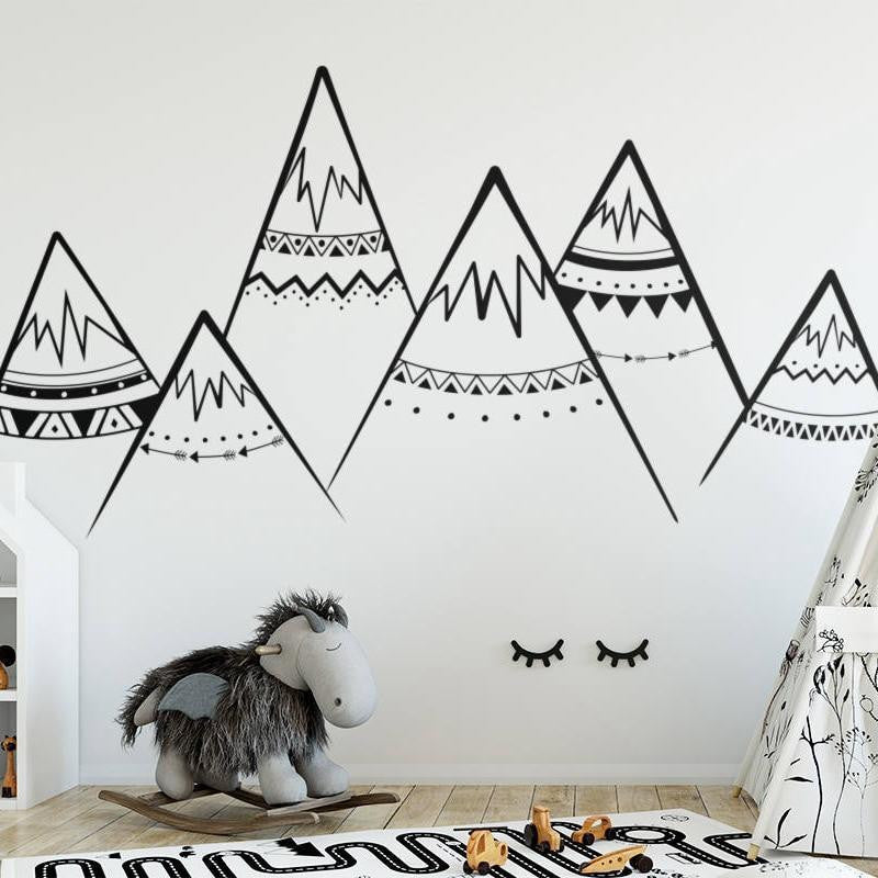 Mountains by Hexa Wall Sticker Black / 63x30 cm